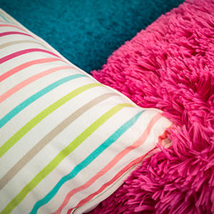 Colourful pillows and cushions
