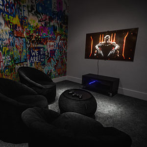 3D visual of a gaming room