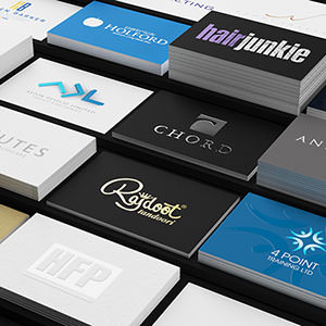 Various business card designs